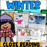After Winter Break Activity | Winter Season Close Reading