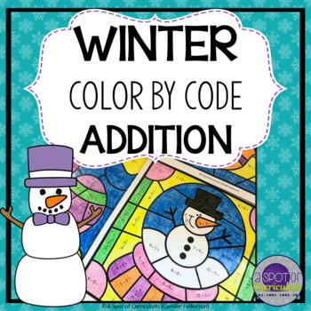 Winter Season Color by Number Addition