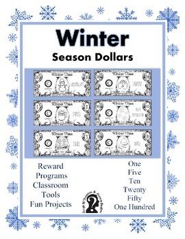 Winter Season Dollars - Teach Money, Use for Rewards, Supp