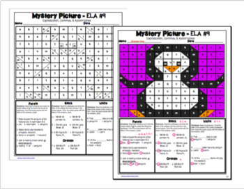 Winter Season ELA Mystery Puzzles Grade 3 Edition
