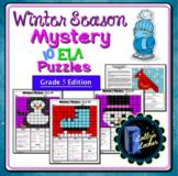 Winter Season ELA Mystery Puzzles Grade 5 Edition