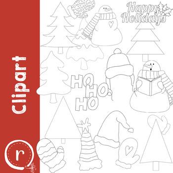 Winter Season Fun Clip Art (RDS Clipart)