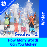 Winter How Many Words Can You Make Grades 1-2