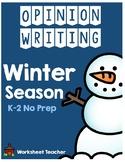 Winter Season Opinion Writing Pack