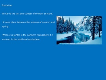 Winter Season - Power Point - All the facts & history - Everything about Winter