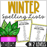 Winter Season Themed Spelling Bee Class Game, List, and Vo