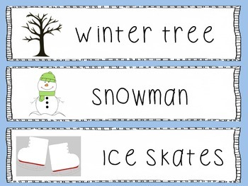 Winter Season Write the Room