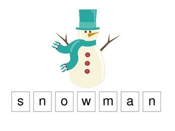 Winter Season themed Match the Letter preschool learning activity. Early math
