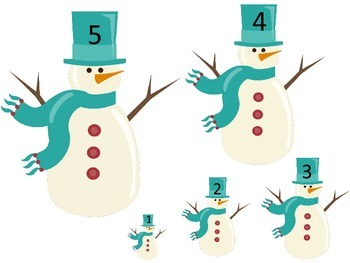 Winter Season themed Size Sequence preschool learning game