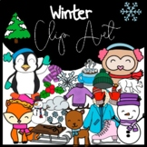 Winter Seasonal Clip Art: Moveable for Paperless Resources