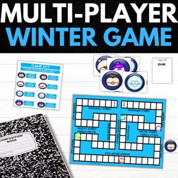 Winter Second Grade Math Puzzles