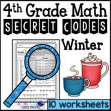 Winter Secret Code Math Worksheets 4th Grade Common Core