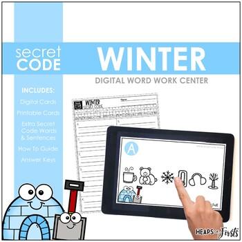 Winter Secret Code Word Work