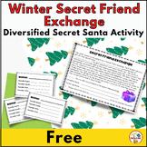 Winter Secret Friend Exchange   Editable   Diversified  Secret Santa Activity
