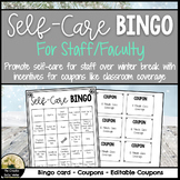 Winter Self-Care Bingo For Staff/Faculty