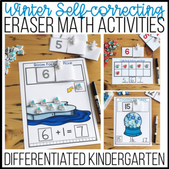 Winter Self-Correcting Eraser Math Activities