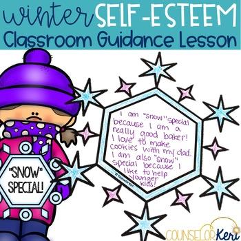 Winter Self Esteem Classroom Guidance Lesson & Self Esteem Activity