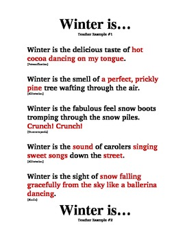 Winter Sense Poem