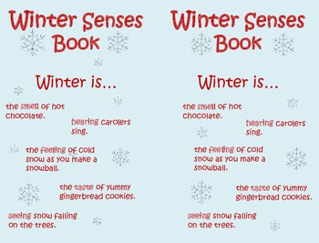 Winter Senses Mini Book
