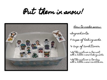Winter Sensory Bin - Artic and Phonology