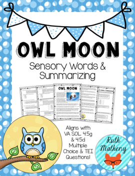 Winter Sensory Word Bundle - VA English SOL 4.5g
