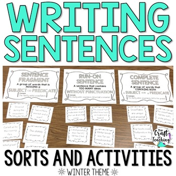 #winterwednesday Winter Sentence Activity Pack