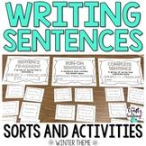 Sentence Writing Activities   Winter Theme
