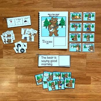 "Winter Sentence Builder Book:  ""What is Bear Doing?"""