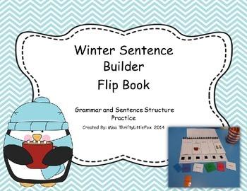 Winter Sentence Builder Flip Book