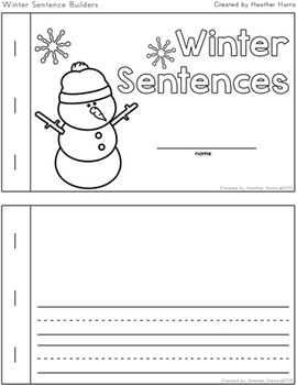 Winter Sentence Builders