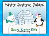 Winter Sentence Builders for SMARTboard - CVC, Sight Words, Blends & Digraphs