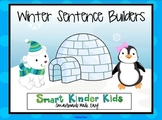 Winter Sentence Builders for SMARTboard - CVC, Sight Words, Blends & Digraphs