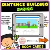Spring Sentence Building (Boom Cards™)