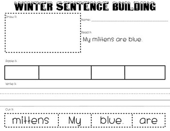 Winter Sentence Building [*print and go*}