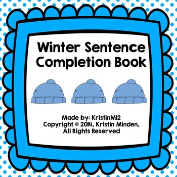 Winter Sentence Completion Book