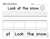 Winter Sentence Cut and Paste