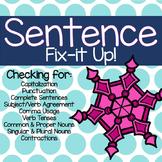 Winter Sentence Fix-it Up!