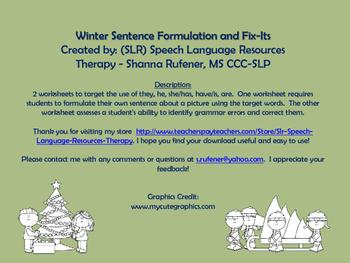 Winter Sentence Formulation and Fix-Its