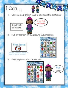 Winter Sentence Game--Literacy Center for K-2
