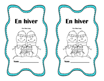 Winter Sentence Matching Book - French
