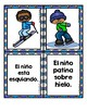 Winter Sentence Matching Center in Spanish (Centros de emparejar oraciones fotos