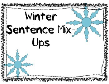 Winter Sentence Mix up