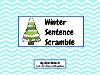 Winter Sentence Scramble