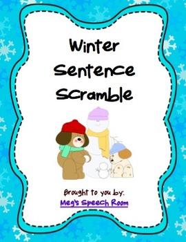 Winter Sentence Scramble