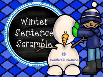 Winter Sentence Scramble Center