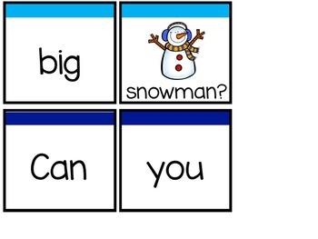 Winter Sentence Scramble *Pocket Chart Activity*