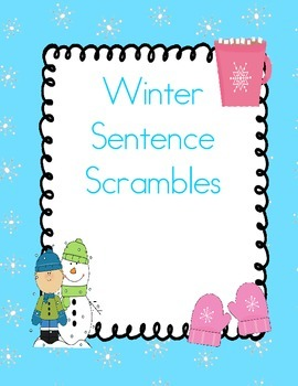 Winter Sentence Scrambles