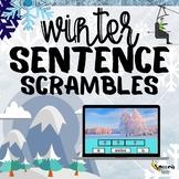 Winter Sentence Scrambles: 3, 4 & 5 words