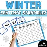 Winter Sentence Scrambles