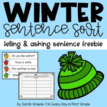 Winter Sentence Sort {telling & asking} Freebie!